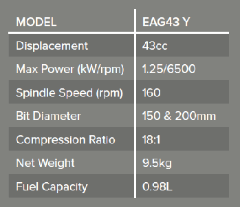 Earth Auger specs